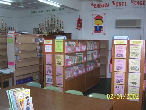 Pandangan tempat membaca Pusat Sumber Sekolah